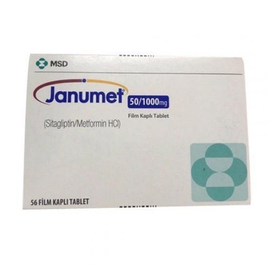 JANUMET 50/1000 MG 56 FILM-COATED TABLETS