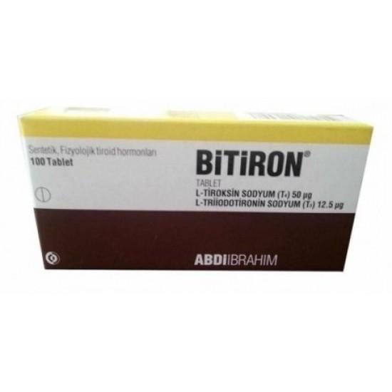 Bitiron 50 mcg/12.5 mcg 100 Tablets