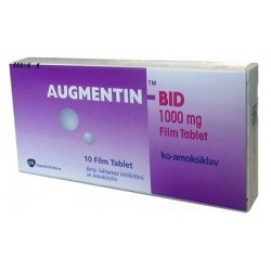 Augmentin BID 1000 mg 10 tablets
