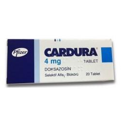 Cardura 4mg 20 Tablets
