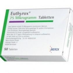 Euthyrox 75mcg 50 Tabs