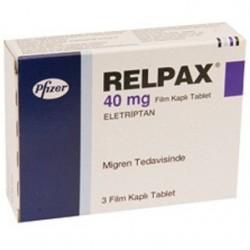 Relpax 40 mg 3 tabs