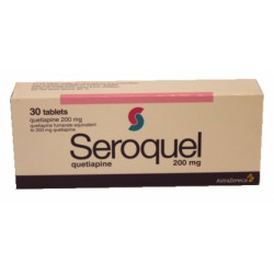 Seroquel 200mg 30 tablets