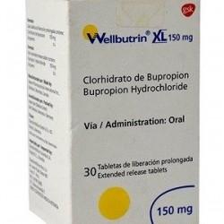 Wellbutrin XL 150 mg 30 tabs